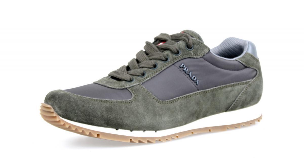 shoes PRADA LUSSO 4E2968 MIMETICO ARDESI NUOVE 8 42 42,5