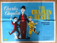 THE CHAPLIN REVUE (1959) - original UK quad film/movie poster, Charlie Chaplin