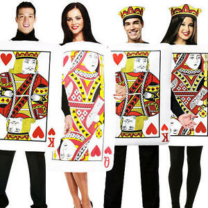 hearts playing of card costume King
