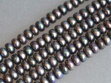 6mm Button Freshwater Pearl Peacock,Peacock Freshwater Pearl Button Beads (#151)