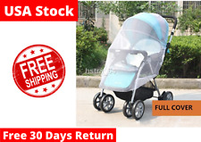 Mosquito Net Stroller for Insect Protection to Car Seat Cradle White Lightweight and Convenient