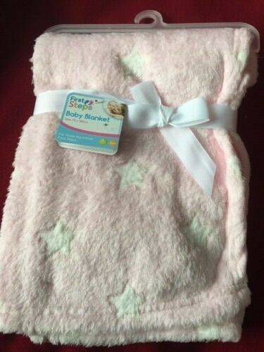 Personalised Baby Newborn Soft Fleece Blanket Pram Crib Moses Basket Girl Boy