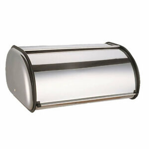 Stylish-Silver-Stainless-Steel-Bread-Bin-Kitchen-Loaf-Food-Storage-Box-Container
