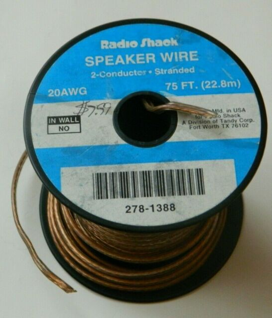 Radio Shack 8-Ft. 8-Gauge Clear 8-Conductor Speaker Wire