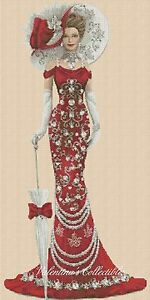 Counted Cross Stitch ELEGANT LADY Full Lenght - COMPLETE KIT- No.1-156e KIT