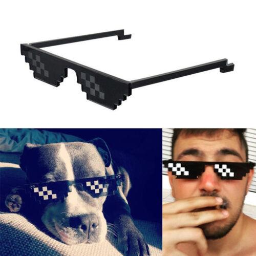 Thug Life Glasses 8 Bit Pixel Deal With IT Sunglasses Unisex Glass Eyewear UK