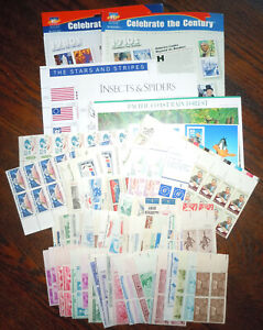 US USA MINT POSTAGE in Sheets, Strips, Blocks & Booklets $50+ Face Value Lot L
