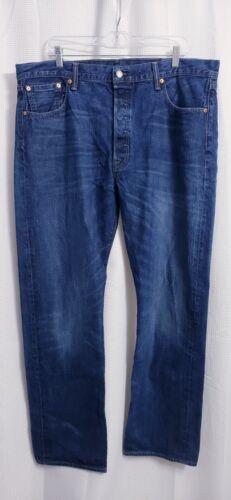Levis 501 Original Fit Button Fly Dark Wash Jeans