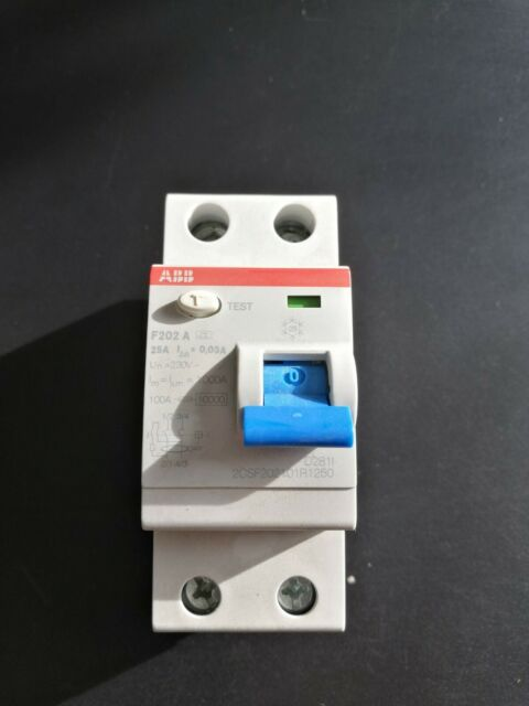 25 A type A ABB f202a-25//0,03 FI-disjoncteur 2p 30 mA