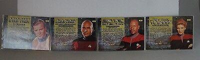 NMint FREE S/&H 1996 STAR TREK Blockbuster Video Lenticular 4 Card Set