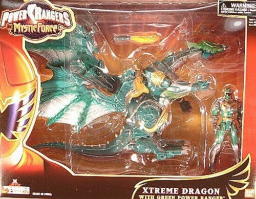 Power Rangers Mystic Force - Xtreme Dragon  With vert Ranger Missile Fibague MISB  exclusif