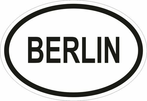 BERLIN CITY COUNTRY CODE OVAL STICKER bumper decal NEW