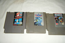 Lot of 3 Nintendo NES Games SUPER MARIO / BAD STREET BRAWLER / TOP GUN
