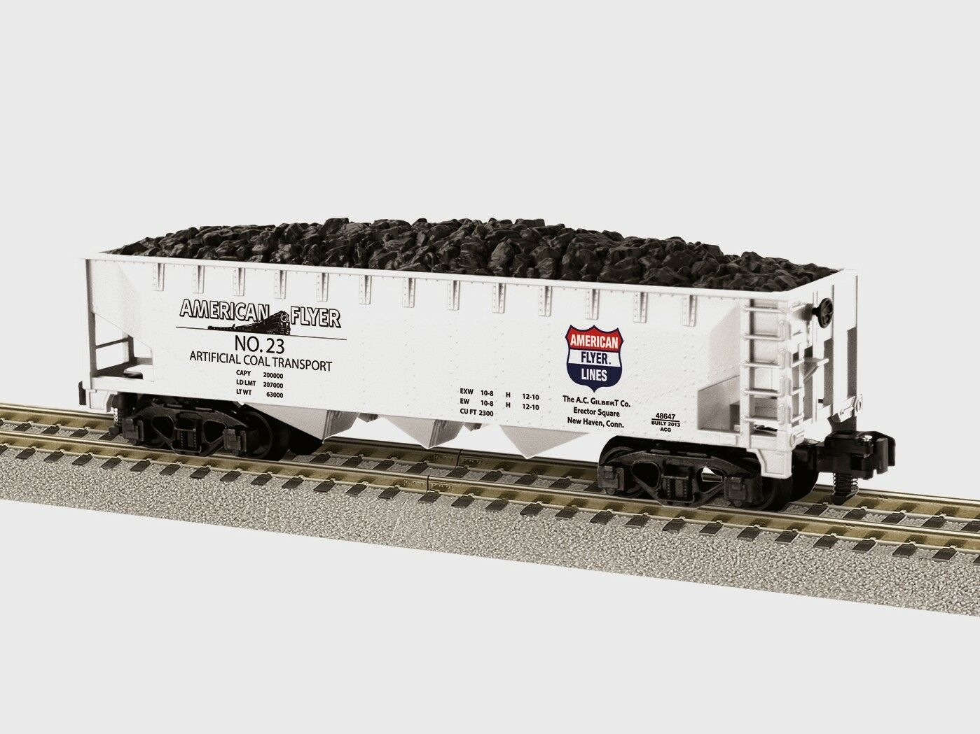 LIONEL AMERICAN FLYER 3 BAY COAL HOPPER S Gauge AF 2 rail train 6-48647 NEW