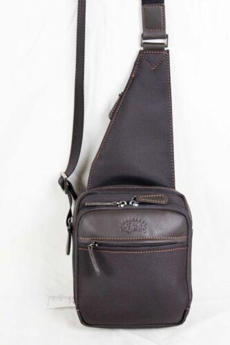 noir ou marron FRANCINEL Sac monobretelle en nylon garni cuir réf 653106