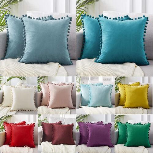 Pom-poms 45x45cm Velvet  Pillow Luxury Soft Particle Cushion