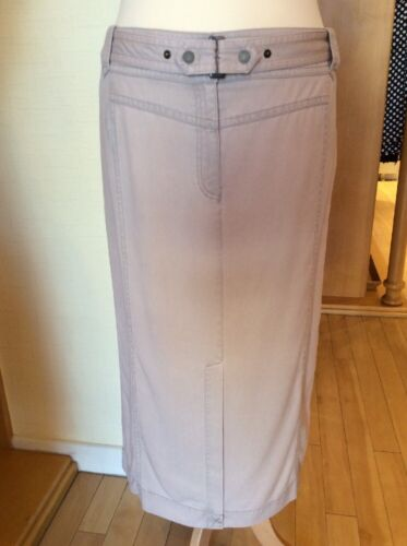 Bnwt 20 £38 Beige Olsen Straight Size Rrp Belt 4050256422091 Skirt £95 Linen Now CqAEFt