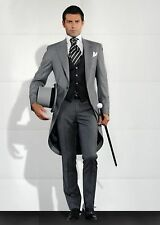 Custom Made Mens Wedding Tuxedos Morning Suits Groom Best man Prom Tailcoat