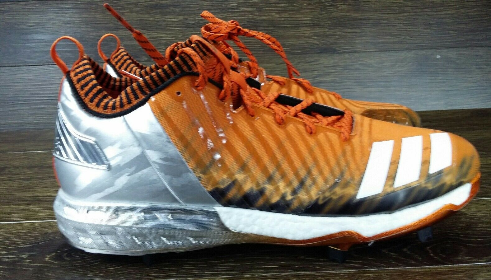 NEW Adidas Boost Icon  Faded Baseball Cleats orange Miami SZ (BY3686) SIZE 13.5