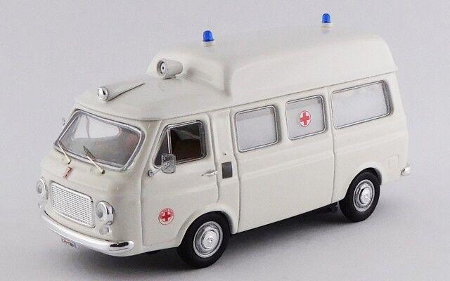 Fiat 238 Ambulanza Croce Rossa Italiana 1970  bianca Rio 1 43 RIO4521