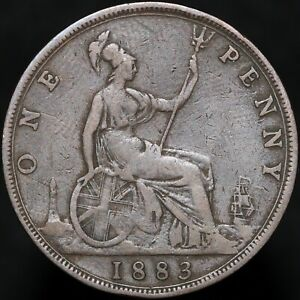 1883 | Victoria One Penny | Bronze | Coins | KM Coins