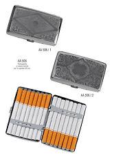 Portasigarette in metallo lavorato  saponetta 16 sigarette mod. AA506