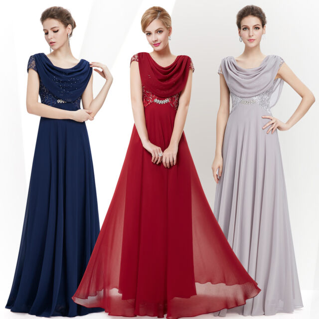 New Long Evening Bridesmaid Party Dresses Prom Gowns Maxi 09989 Ever Pretty