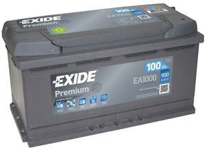 exide premium ea1000 car battery 12v 100ah 900a mercedes benz a0009823308 ebay. Black Bedroom Furniture Sets. Home Design Ideas