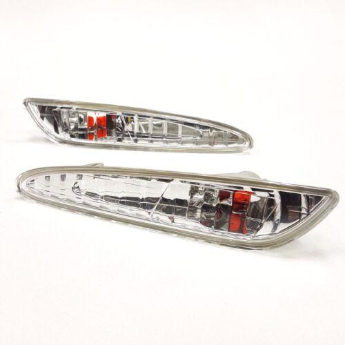 Euro Chrome Clear Front Bumper Side Marker Lights for W211 03-06 E320 E550 E55
