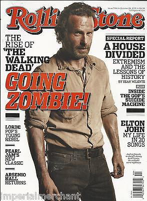 Rolling Stone Magazine The Walking Dead Andrew Lincoln Elton John Arctic Monkeys