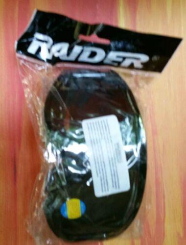 Raider Motocross Dirt Bike ATV MX Goggles Adult - Black - Single Lens - Clear