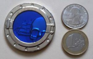 ☆ Davy Jones Locker Geocoin Nickel / Blue Unactivated VHTF