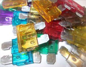 Les fusibles fusibles verre automobile 120pc kit assortiment de 30 a 5a AST21