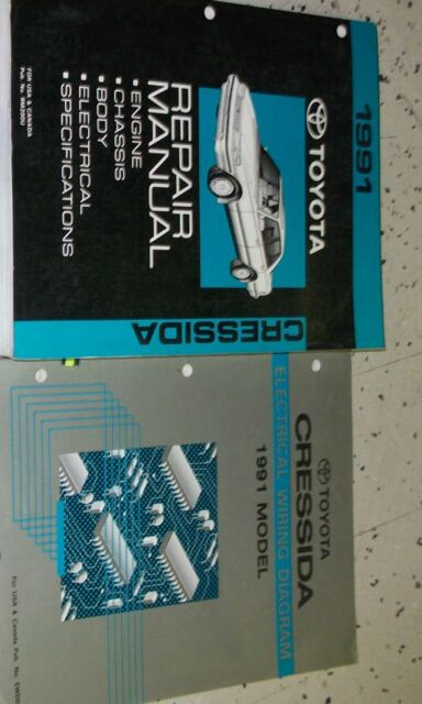 1991 Toyota Cressida Service Shop Repair Manual Set
