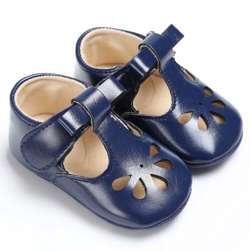 Infant Baby Summer PU Leather Sandals Kids Sole Anti-Slip Crib Shoes Prewalker