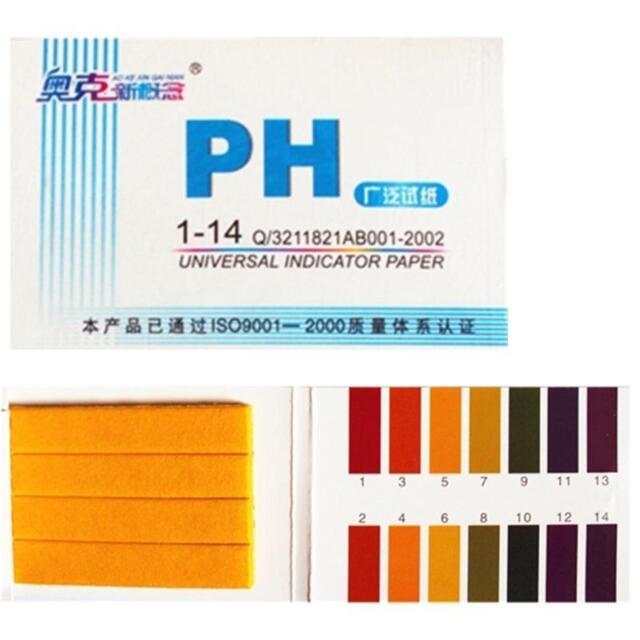 80 Strips pH 1-14 Test Paper Litmus Testing Kit URINE SALIVA TESTER SCALE UK