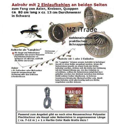 1 Aalrohr Aalreuse Aalreusen Krebskorb Krebsreuse eel cray trap+12mSchnurHaribo