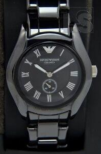 Armani damenuhren schwarz  Emporio Armani - Damenuhr AR1402 Ceramica schwarz analog | eBay