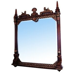 Beautifully-Carved-Pottier-amp-Stymus-Egyptian-Revival-Wall-Mirror-6932