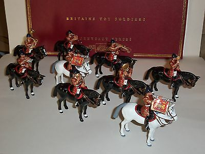 BRITAINS 00074 MOUNTED BAND OF THE LIFEGUARDS METAL TOY SOLDIER FIGURE SET 2