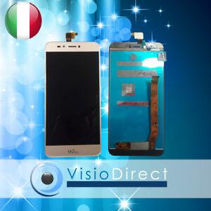 Schermo-per-Wiko-UPulse-Lite-5-2-034-Touch-screen-Vetro-Lcd-Oro