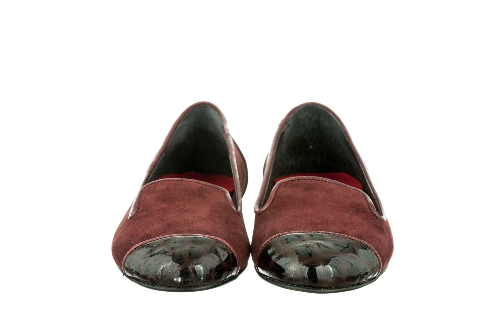 MORI MADE ITALY SLIP BALLERINA ON FLATS SCHUHE Schuhe BALLERINA SLIP LEATHER BORDEAUX BORDO 44 4dce75