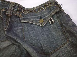 DSQUARED2 Denim Light Blue Slim Jeans Pants Zipper Size S W28 L33 Bootcut