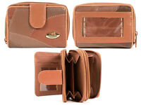 LADIES NEW SOFT LONDON LEATHER PURSE/WALLET MULTIPLE CARD NOTE SLOTS ID WINDOW
