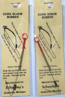 Schooley Cork Screw Bobber (three) Tells The Lightest Bite, Ice Fishing 23