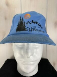cb4ce338 Image is loading VTG-Yellowstone-Snapback-Mesh-Trucker-Hat-Vintage-National-