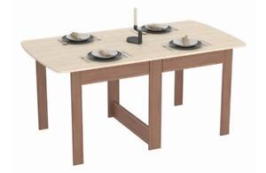 Tisch Klappbar.Details Zu Klapptisch Tisch Klappbar Esstisch Ausklappbar Nuss Hell Dunkel Holznachbildung