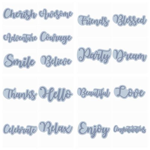 Wishing Words Metal Cutting Dies Stencil Scrapbooking Paper Card Crafts Decor