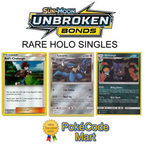 Pokemon-Sun-amp-Moon-Unbroken-Bonds-Rare-Holo-Card-Selection-Pick-Your-Card-s