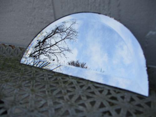 "1 Half Circle Mirror 6 1//2/"" x 3 1//4/"" Bevel Edge"